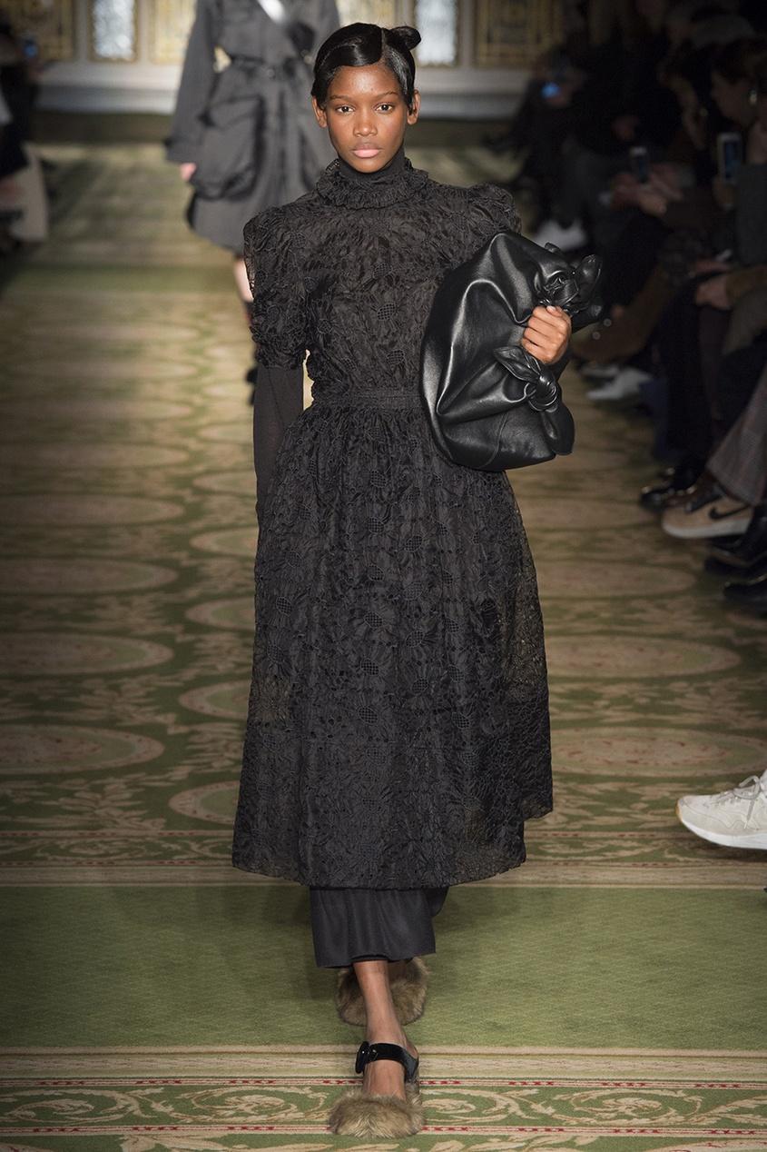 где купить  Simone Rocha Платье из вышитой ткани  по лучшей цене