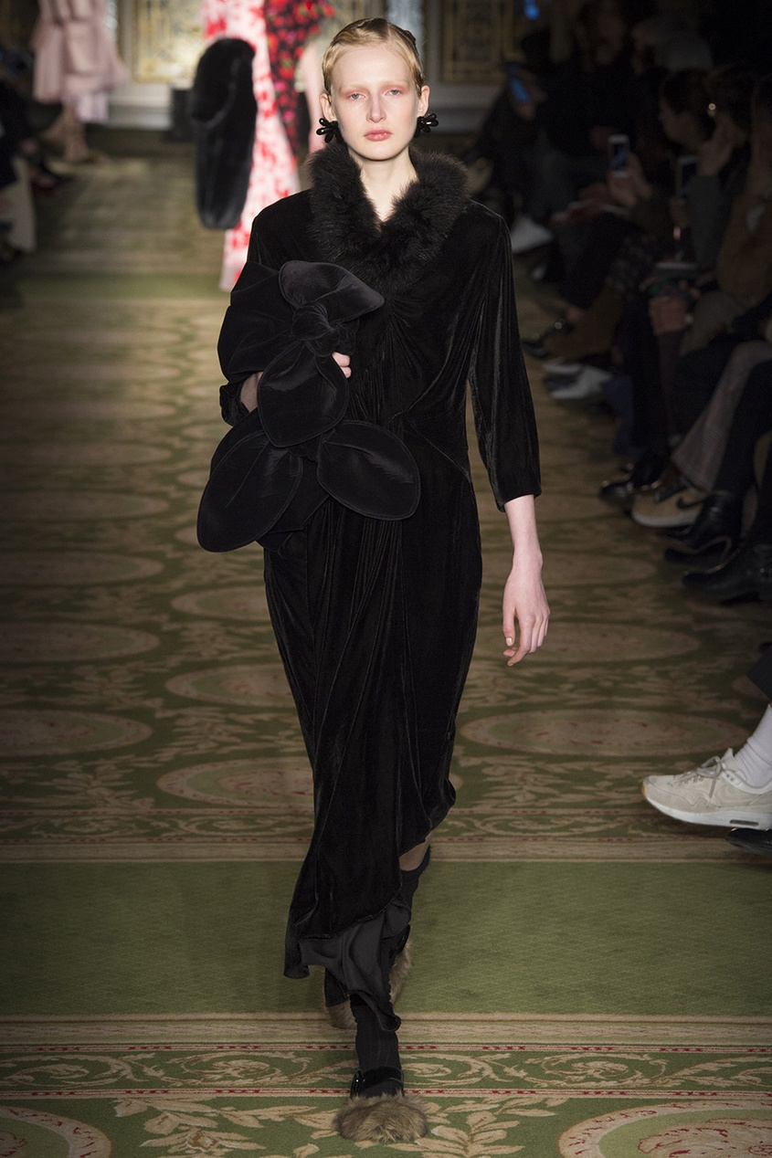 Simone Rocha Бархатное платье