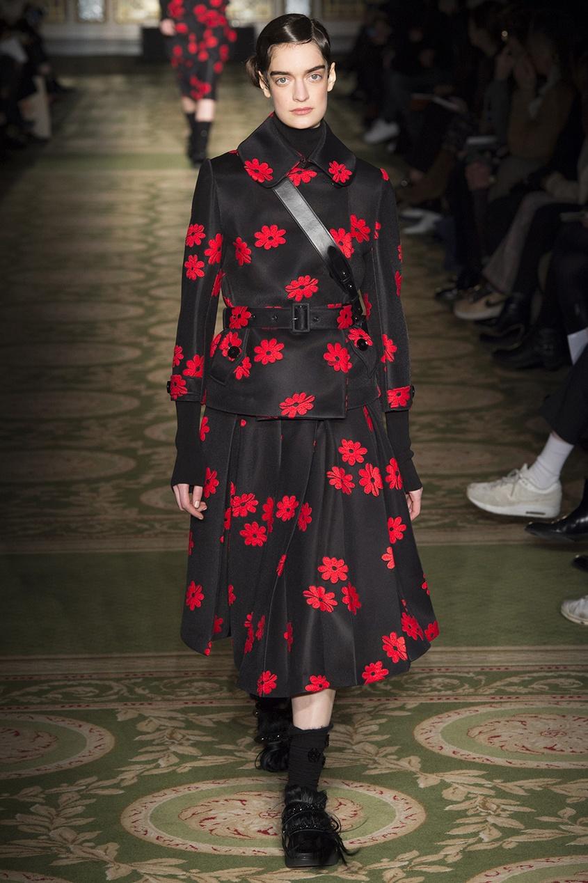 цена Simone Rocha Юбка с вышивкой онлайн в 2017 году
