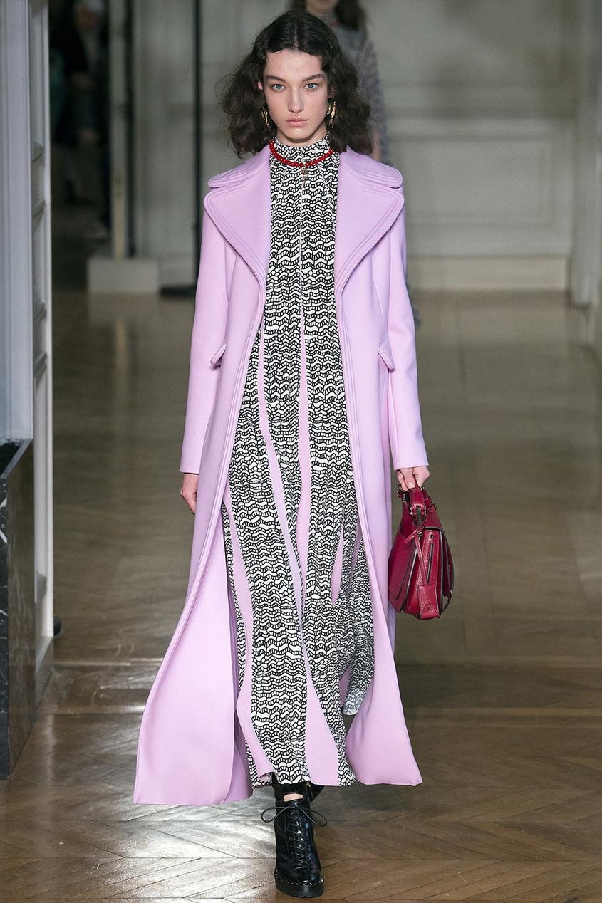 женское пальто valentino, розовое
