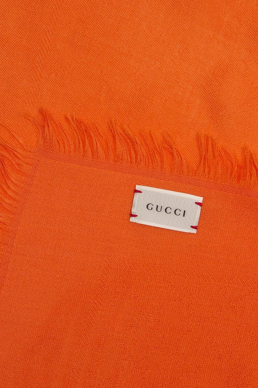 Gucci Children Платок из шерсти и шелка rochas пальто из шерсти и шелка