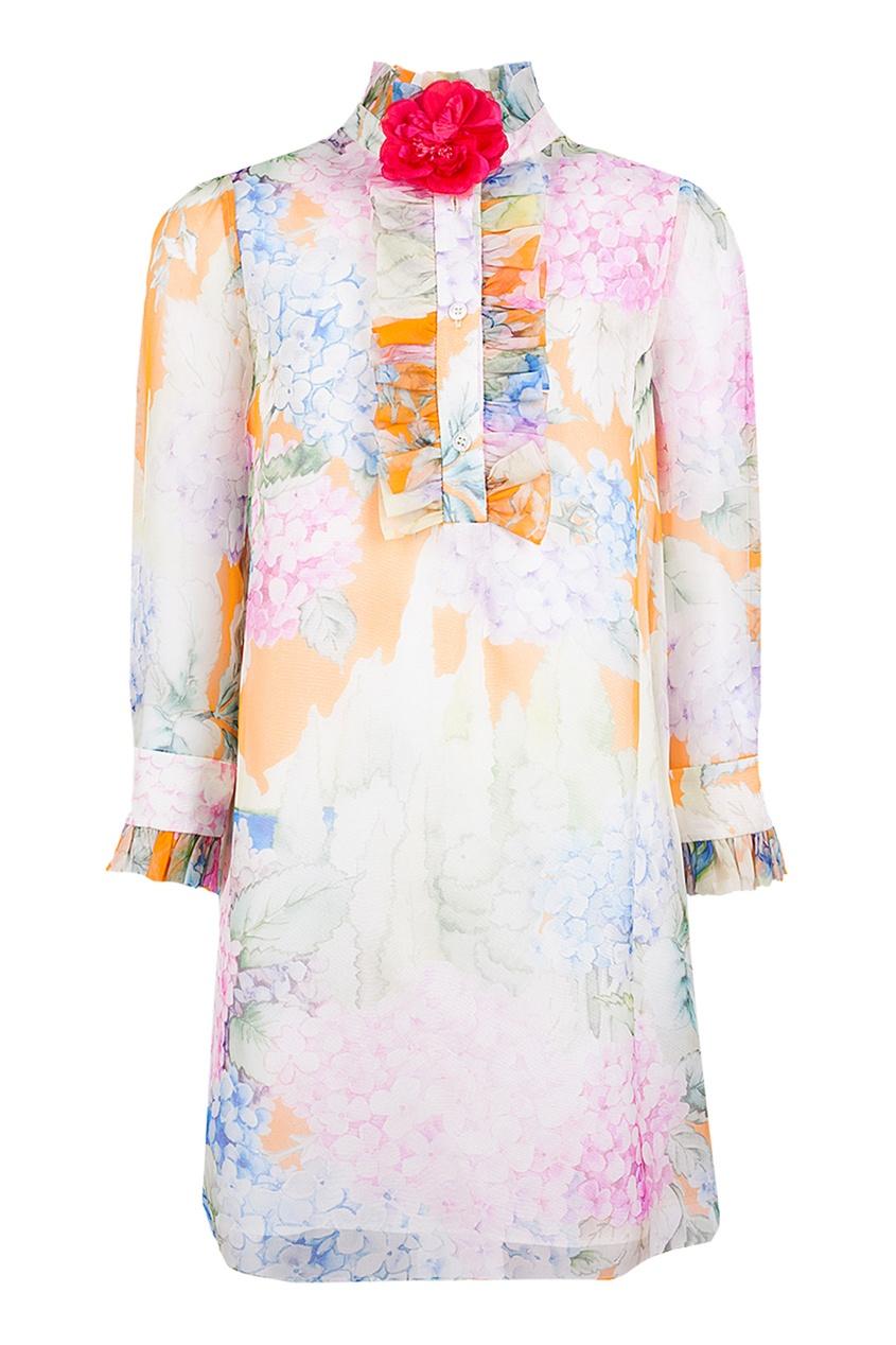 Gucci Children Шелковое платье alexandr rogov шелковое платье