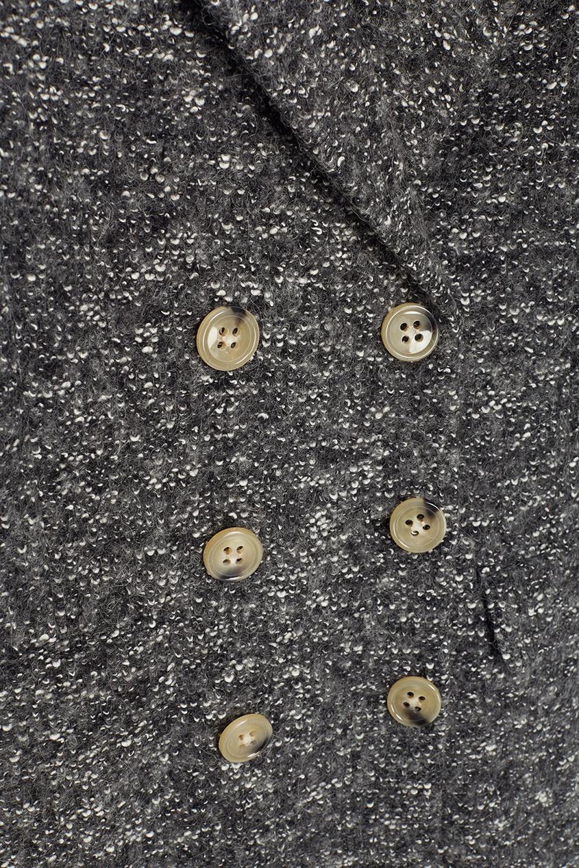 Isabel Marant Etoile Меланжевое пальто Overton isabel marant etoile твидовое пальто oversize