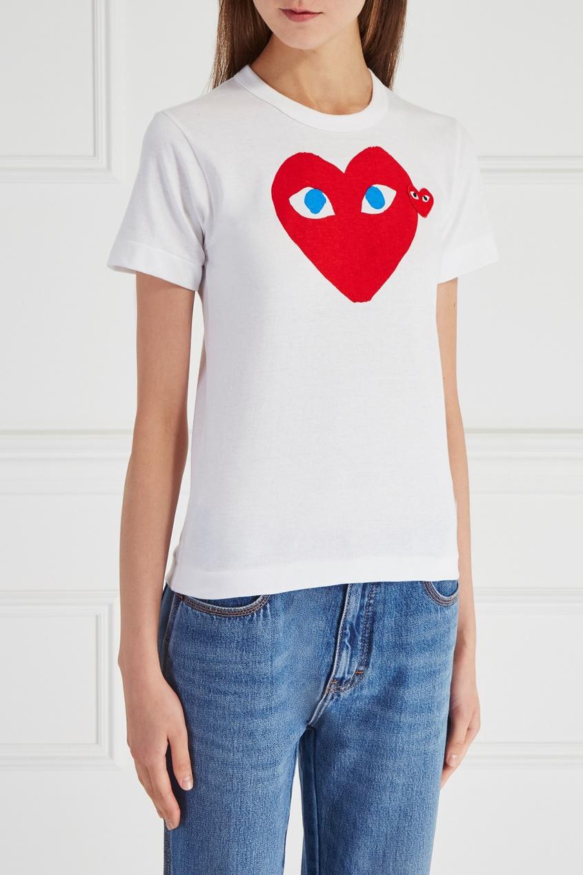 Comme des Garcons PLAY Хлопковая футболка