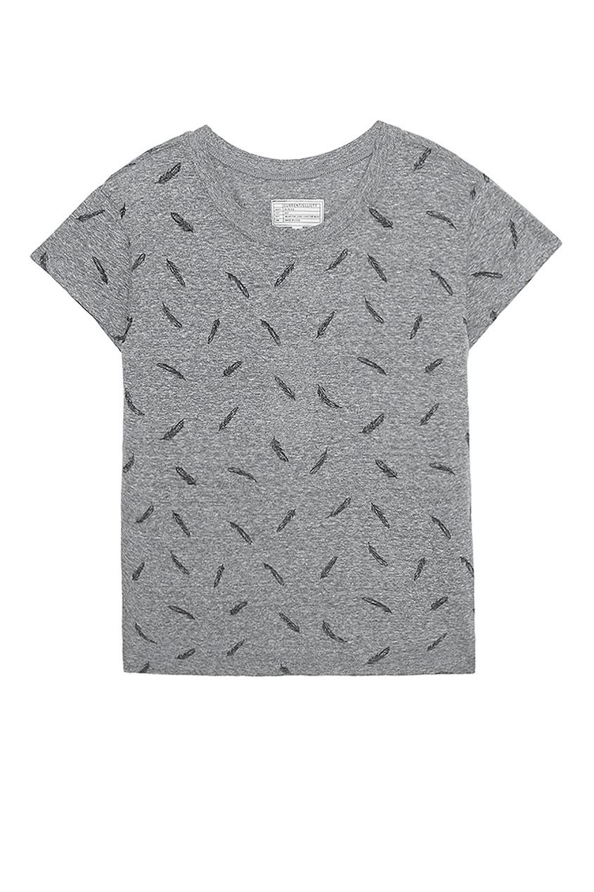 Current/Elliott Футболка с принтом футболка из двух материалов с принтом