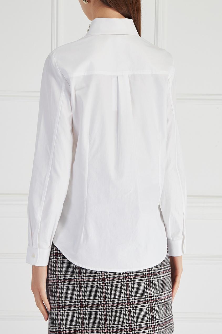 женская рубашка carven, белая