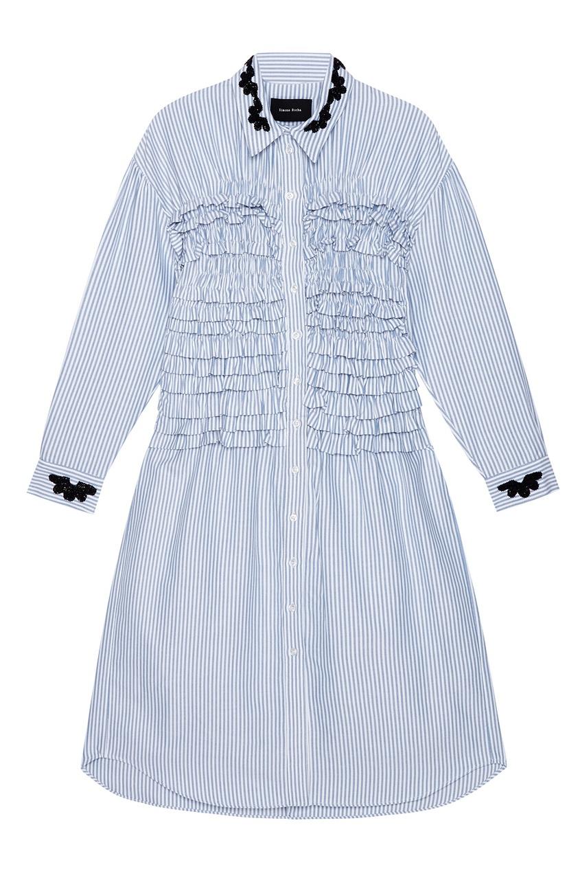 где купить  Simone Rocha Хлопковое платье-рубашка  по лучшей цене
