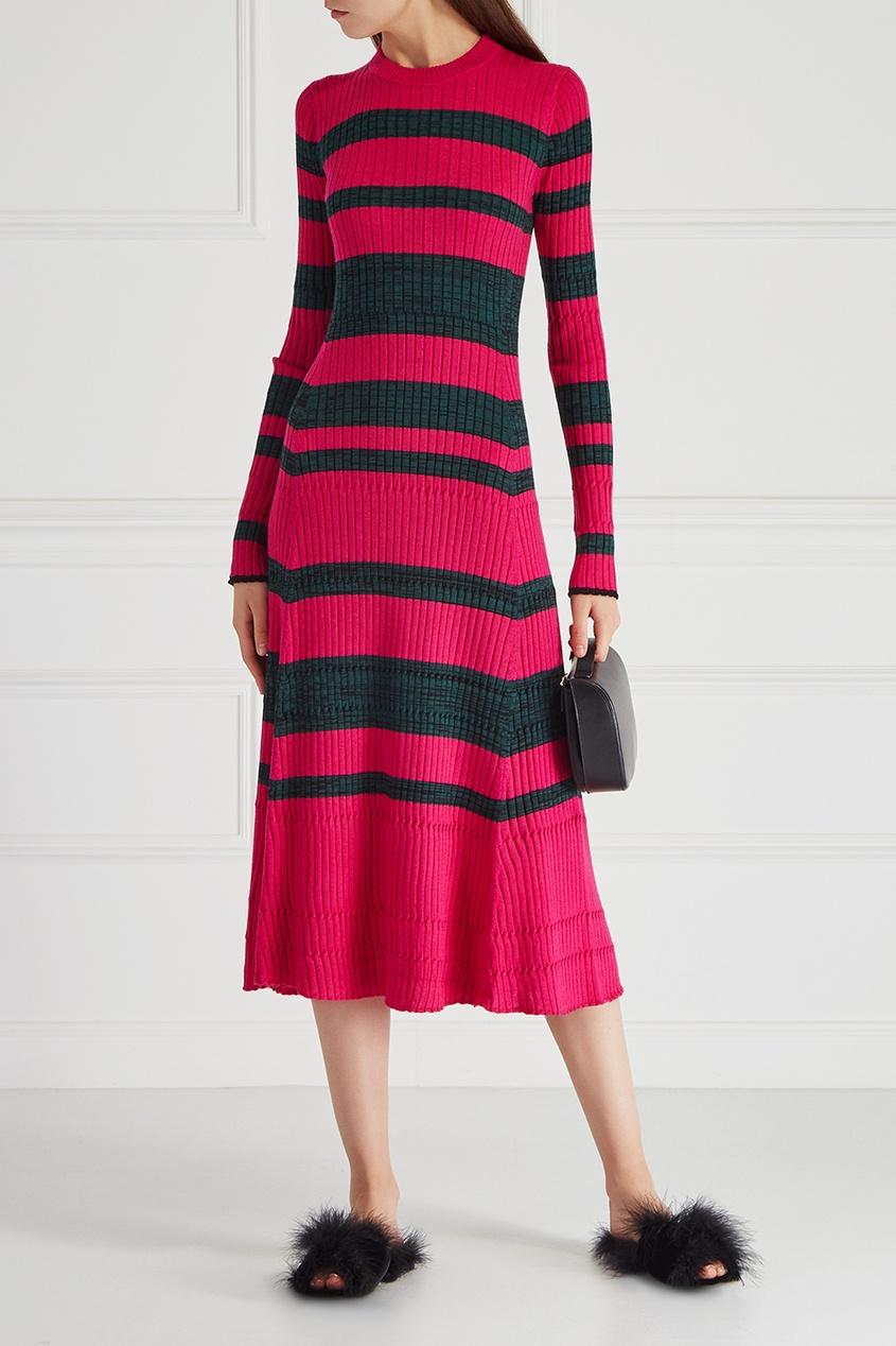 цена  Proenza Schouler Платье из шерсти и шелка  онлайн в 2017 году