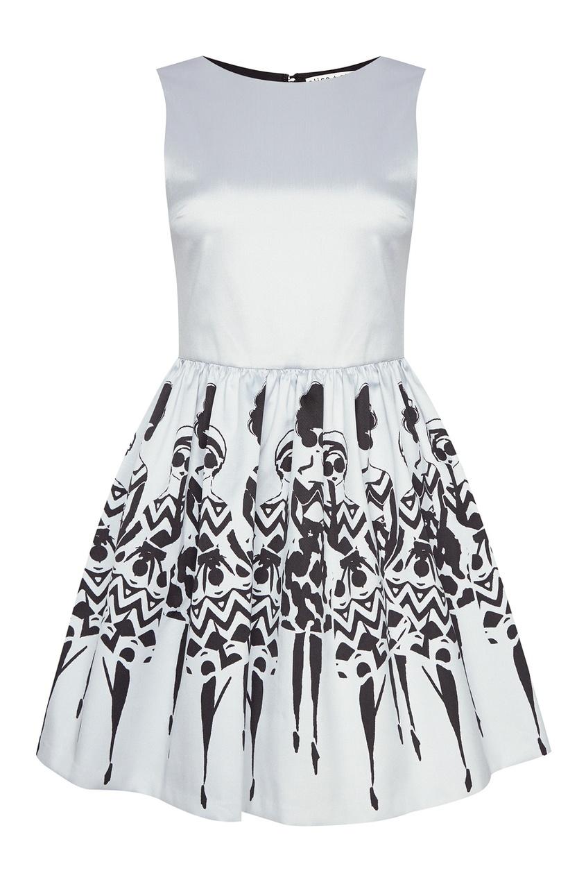 Alice + Olivia Платье с принтом женское платье alice olivia q01541915 alice olivia