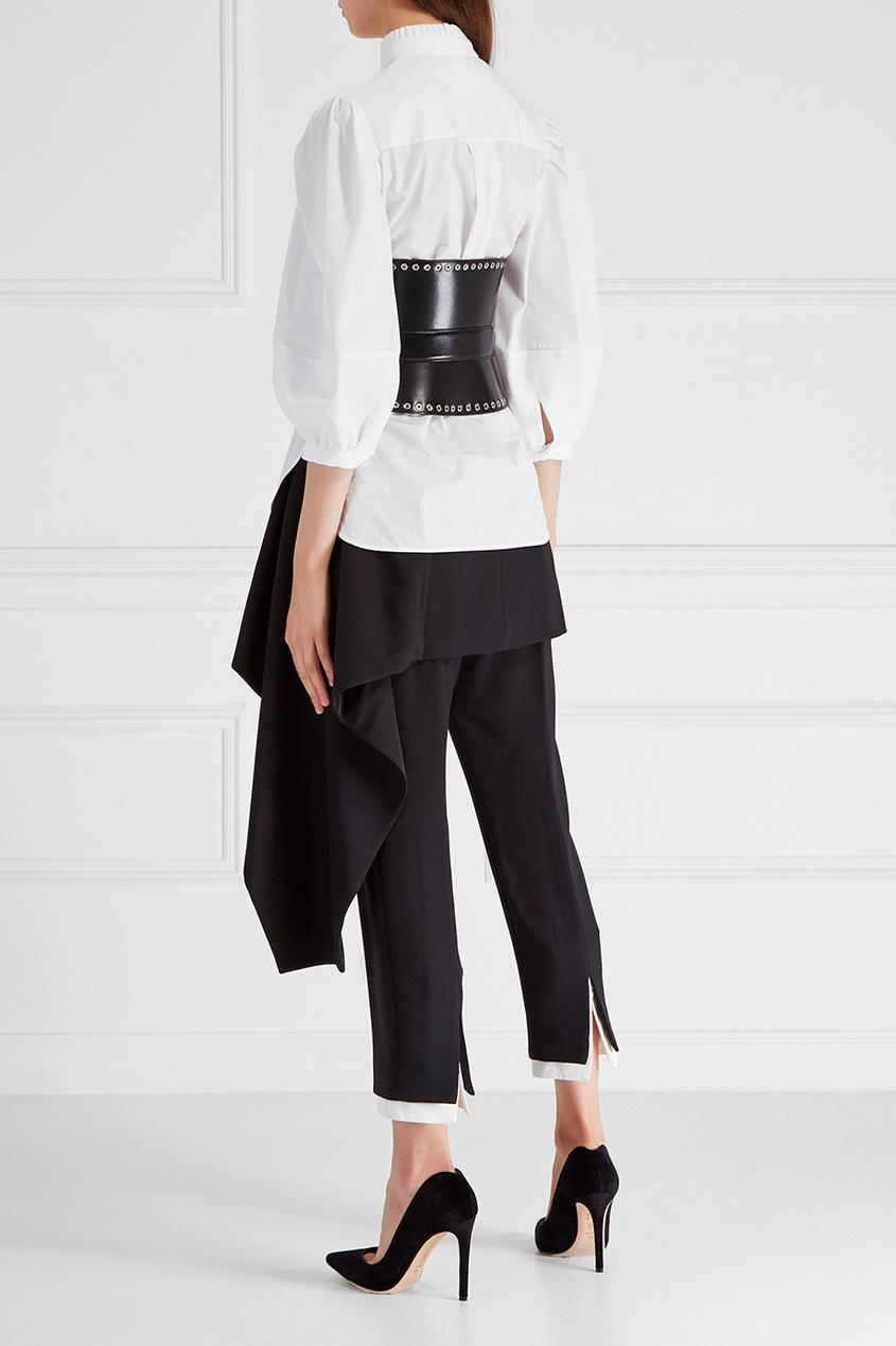 Alexander McQueen Брюки из шерсти и шелка alexander mcqueen юбка из шелка с люрексом
