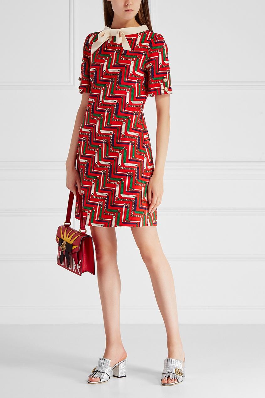 Платье из шелка и шерсти