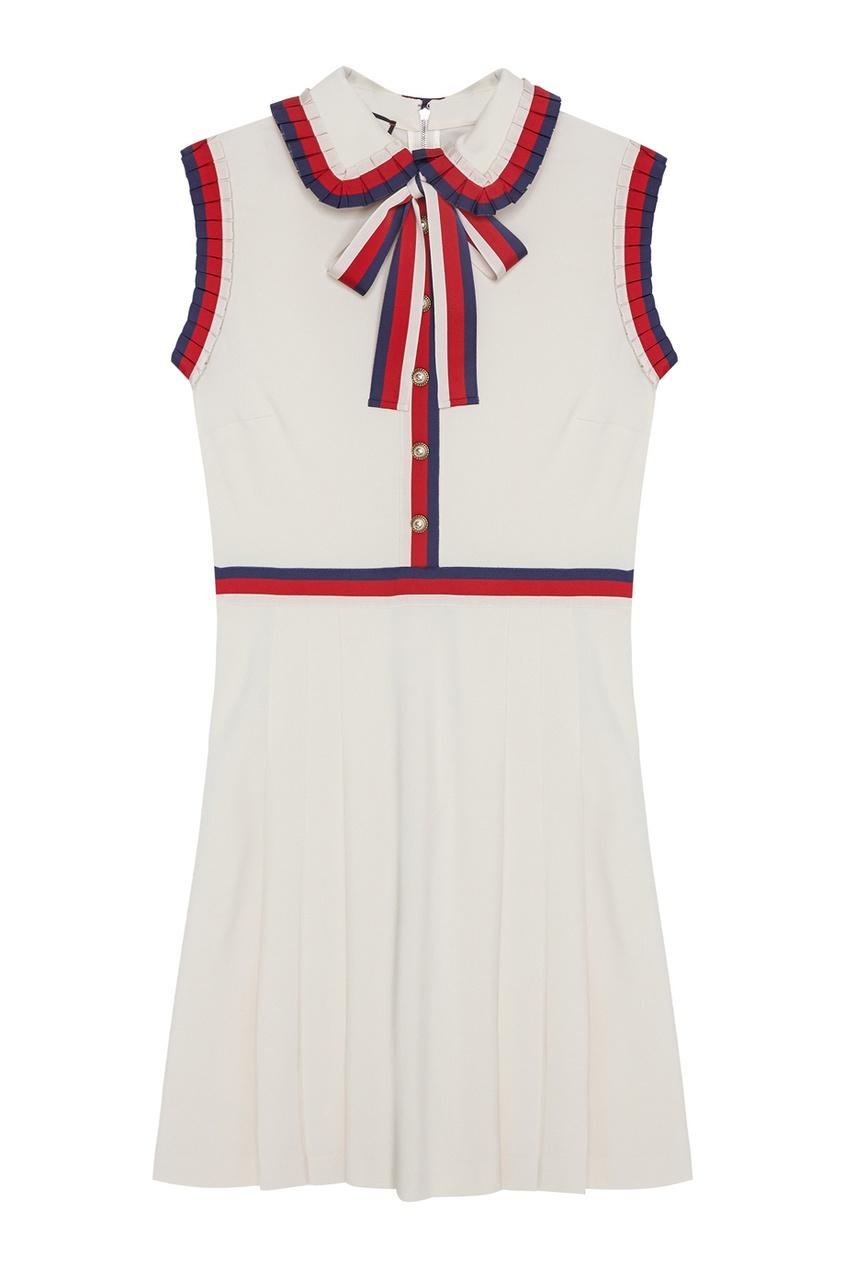 Gucci Платье с оборками платье красно белое в полоску catimini ут 00011715