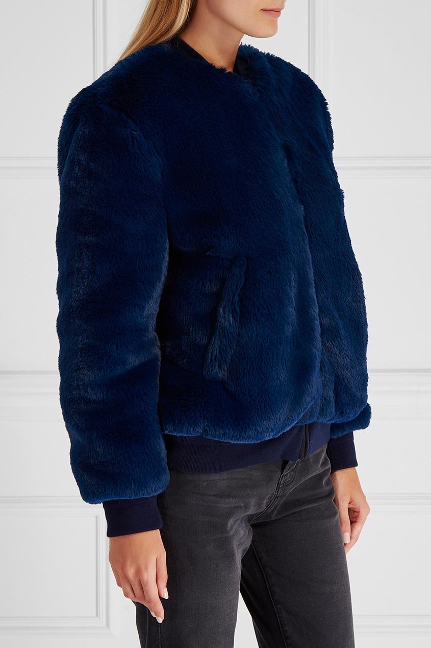 Купить со скидкой Меховая куртка-бомбер Amanda