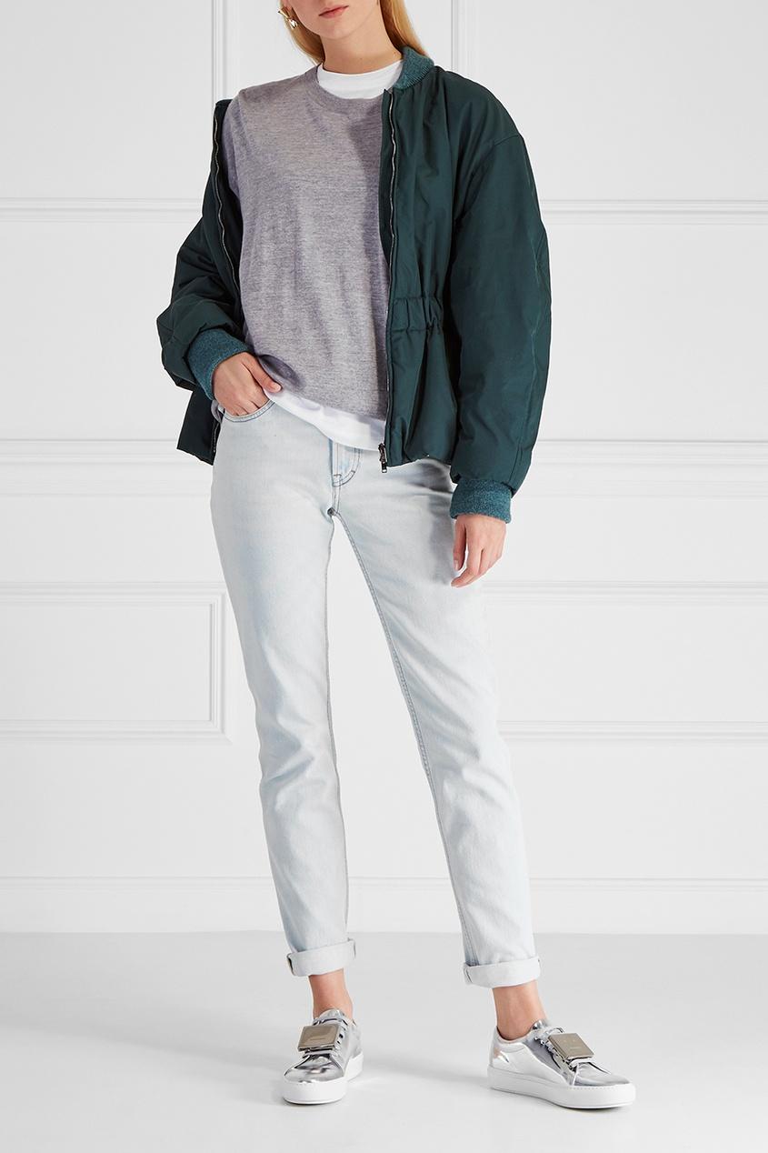 Acne Studios Кожаные кеды Adriana acne studios расклешенные джинсы lita