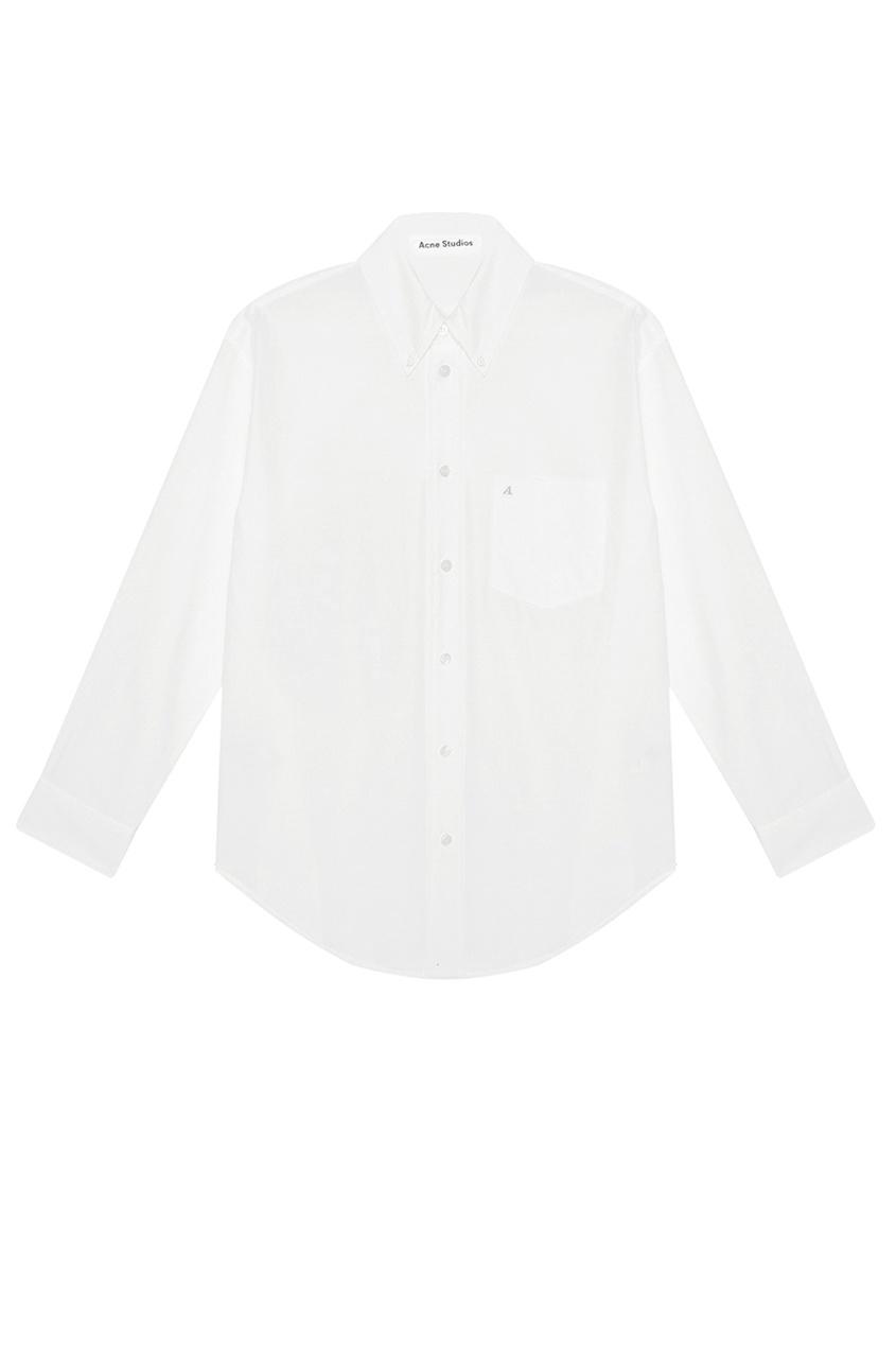 Acne Studios Хлопковая рубашка Beatrix Init acne studios зеленая хлопковая футболка nash