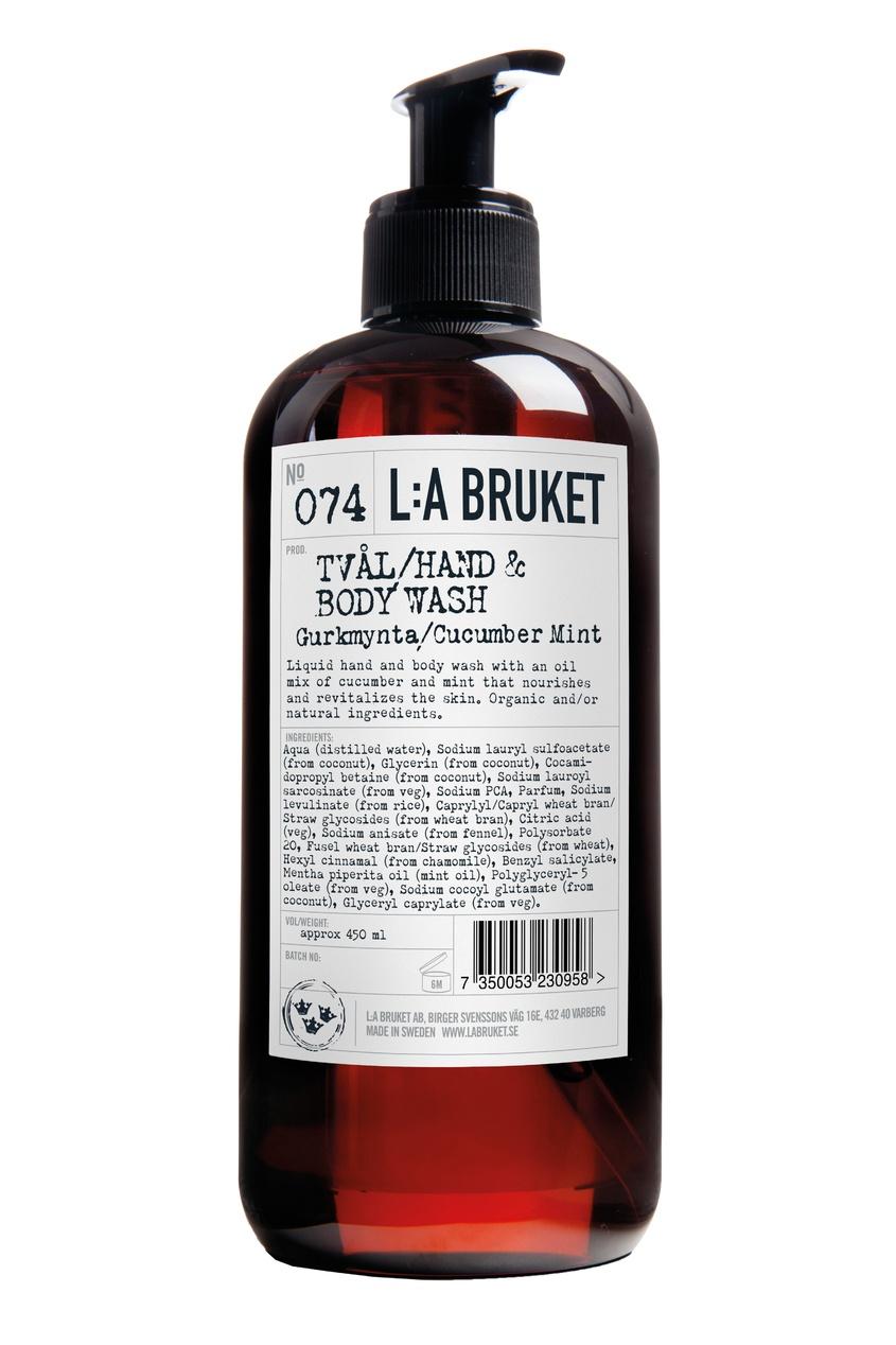 L:A Bruket Жидкое мыло 074 Gurkmynta, 450 ml аромаджаз масло жидкое для лица свежесть мяты и огурца 200 мл
