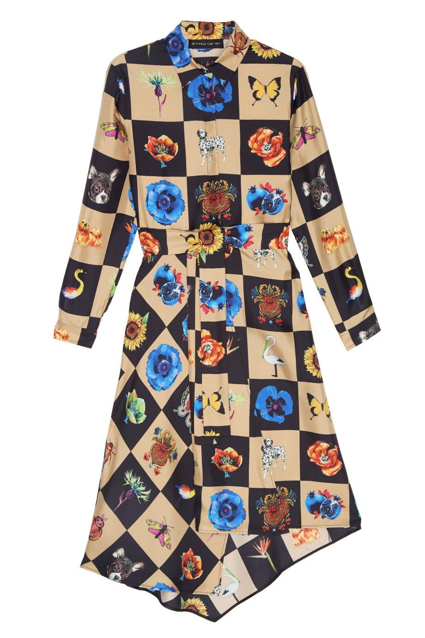 Etro Шелковое платье etro платье от etro 54666