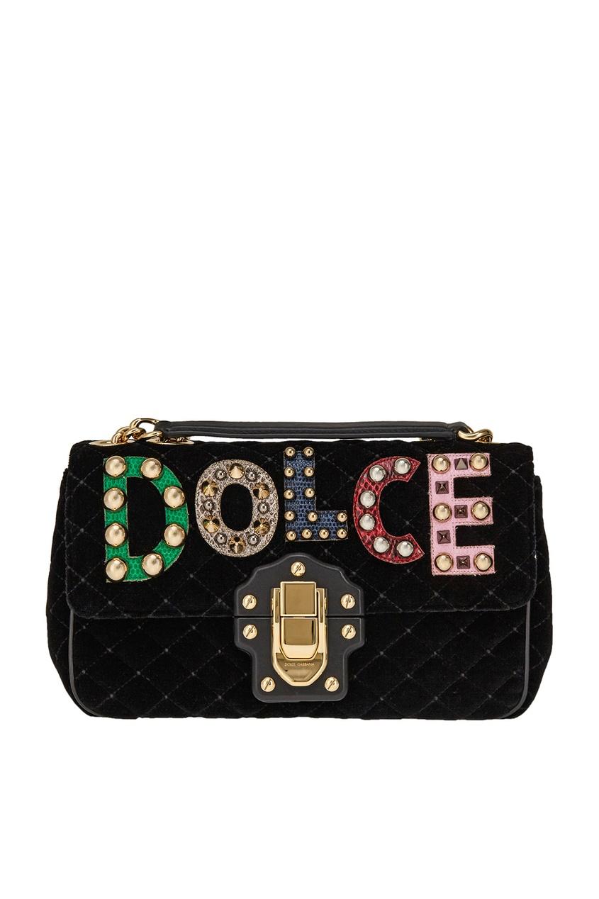 Бархатная сумка Lucia