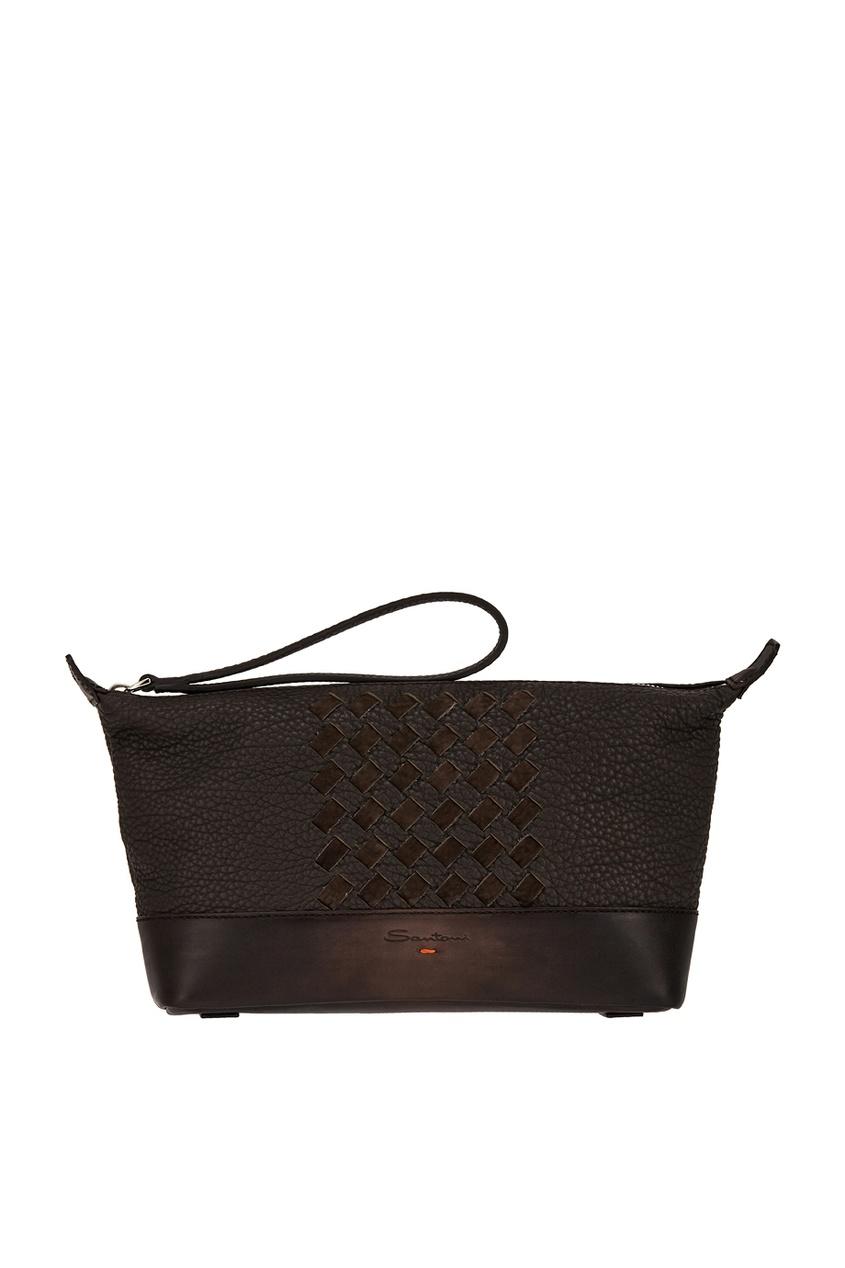 Santoni Кожаная сумка