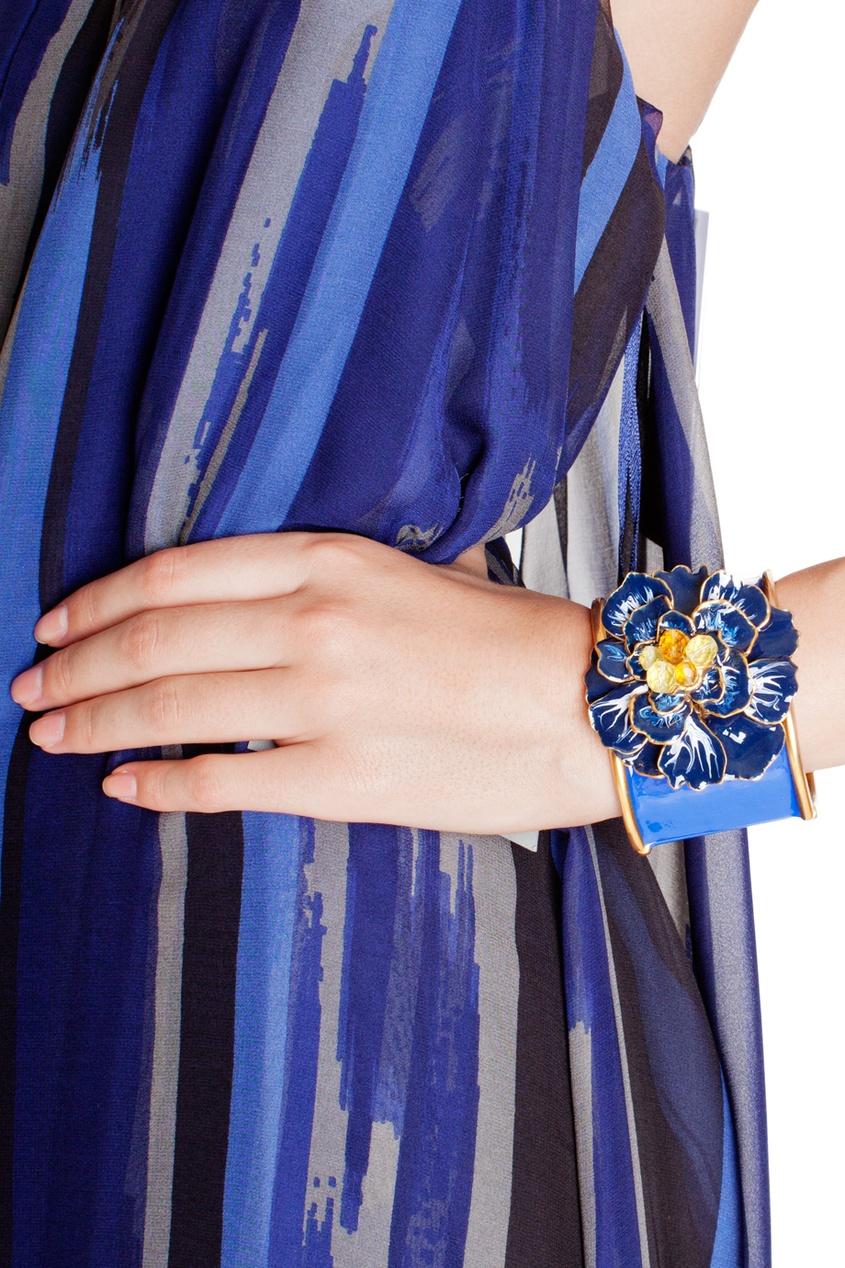 Oscar de la Renta Массивный браслет с цветком