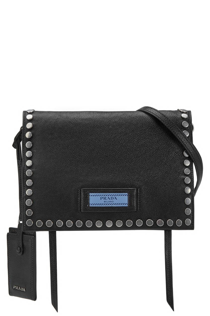 Кожаная сумка Etiquette PRADA
