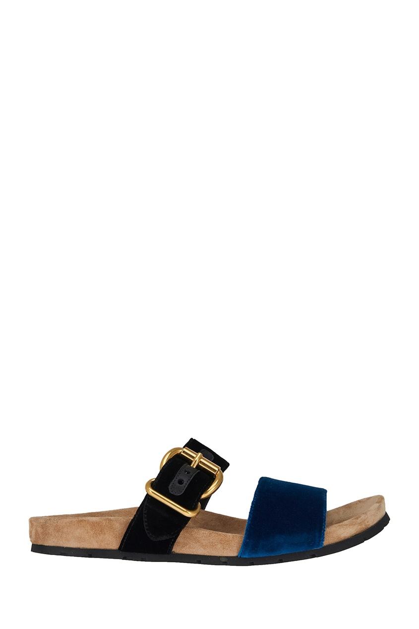 Prada Бархатные сандалии сандалии velvet сандалии на обычной подошве