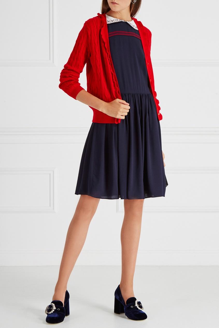 Miu Miu Платье с вышивкой miu miu платье от miu miu 71748