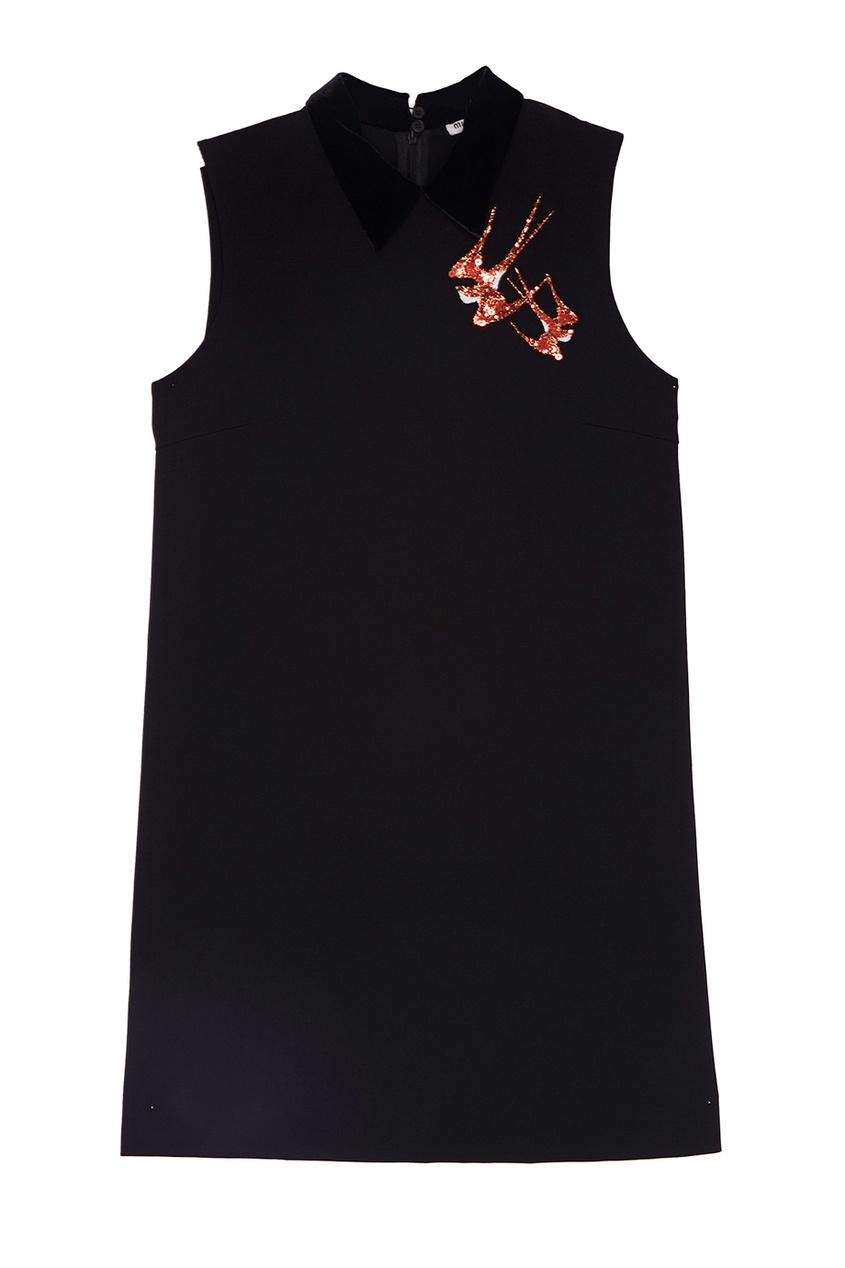 Miu Miu Однотонное платье miu miu бархатное платье