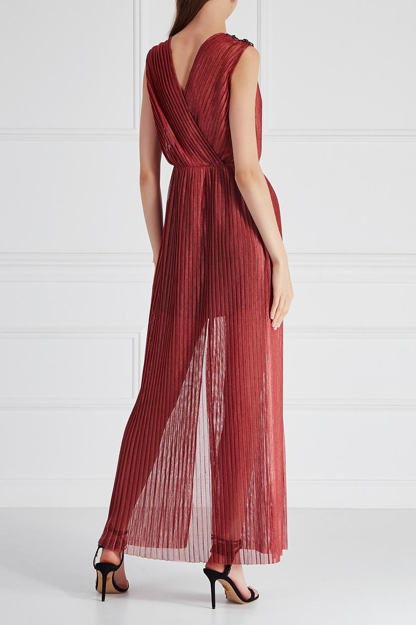 Esve Плиссированное платье «Терракот» платье плиссированное с рисунком