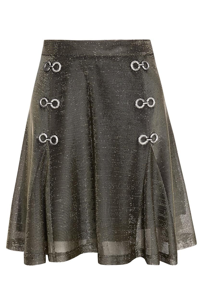 Купить со скидкой Однотонная юбка «Сетка»