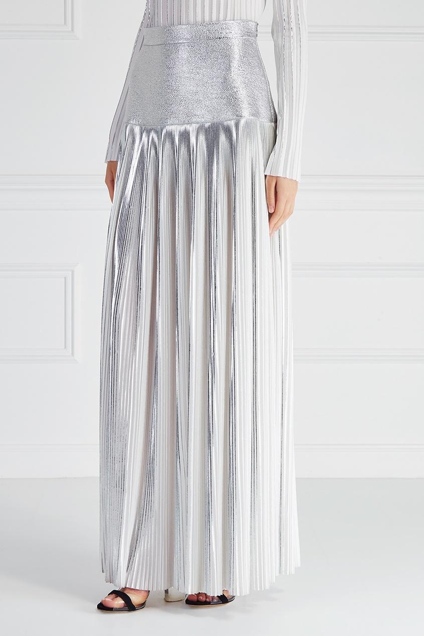Серебристая юбка «Плиссе»