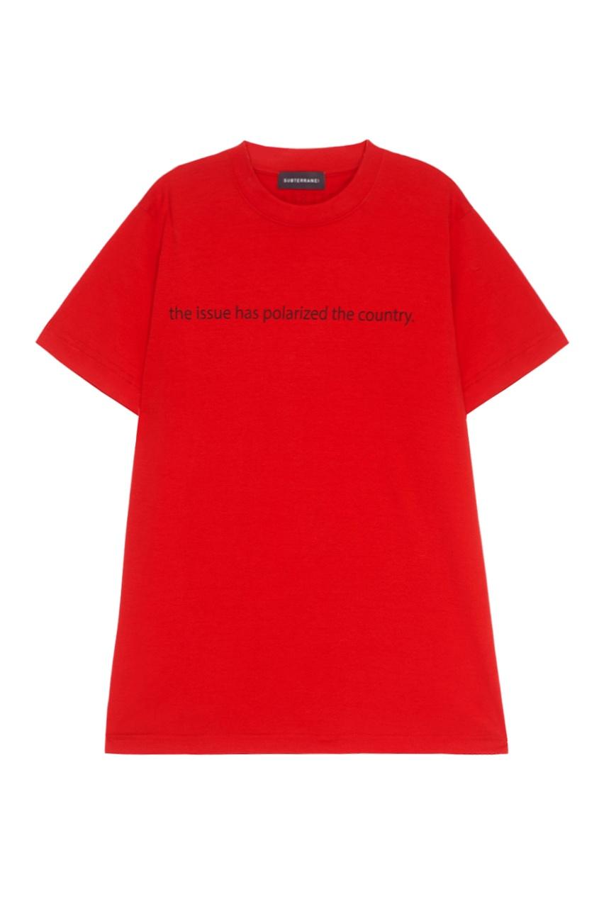 SUBTERRANEI Хлопковая футболка красная
