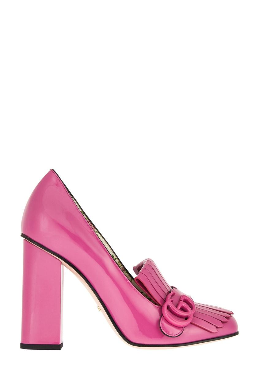 где купить Gucci Кожаные туфли GG Marmont по лучшей цене