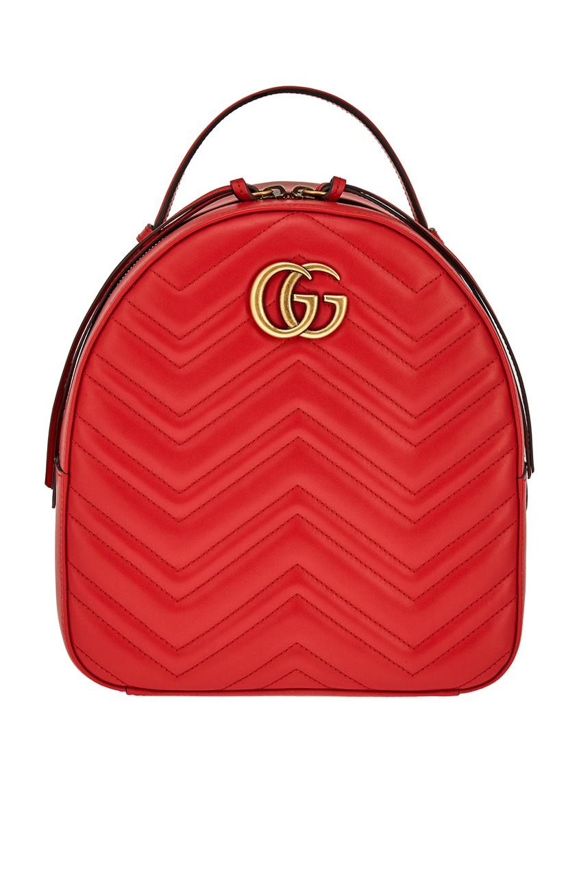Gucci Кожаный рюкзак GG Marmont gucci кожаные туфли gg marmont