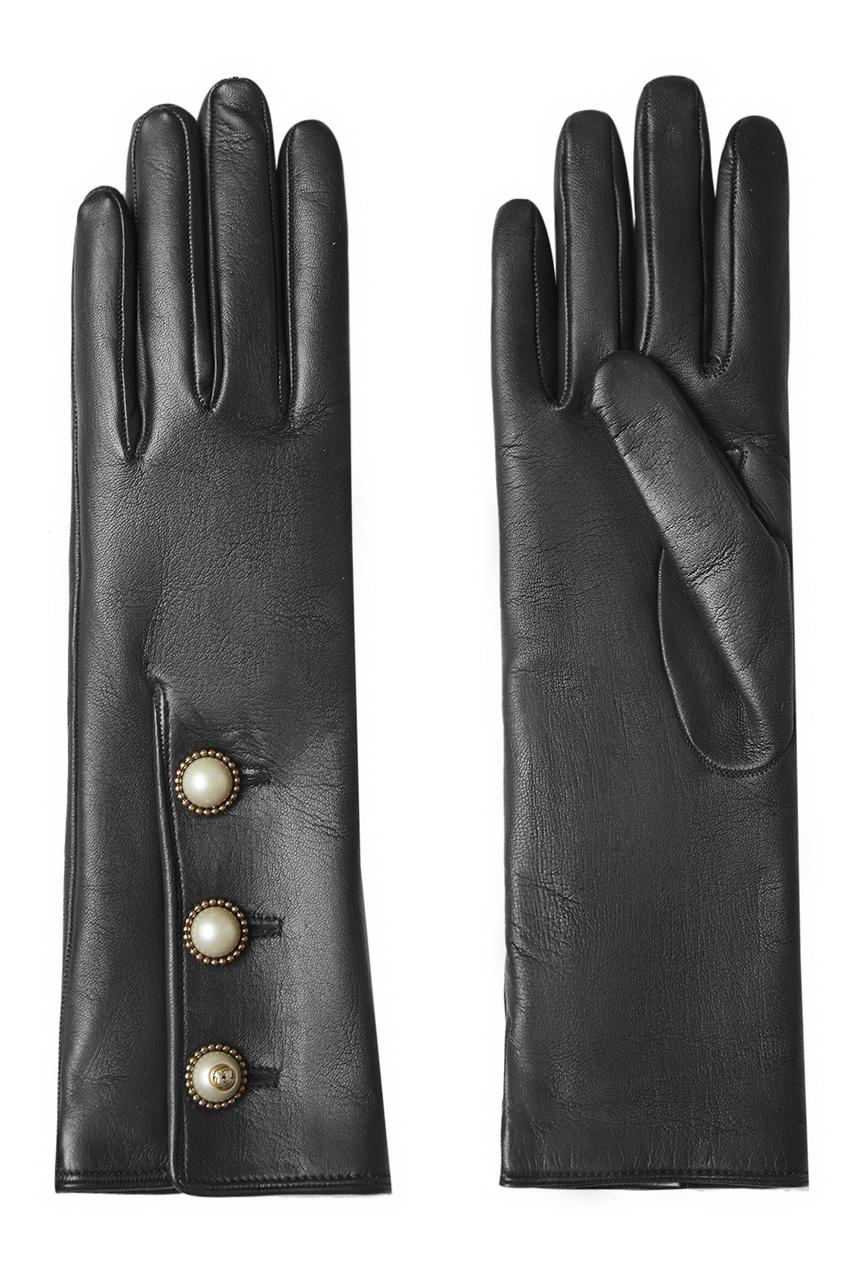Gucci Кожаные перчатки gucci черные кожаные сандалии horsebit