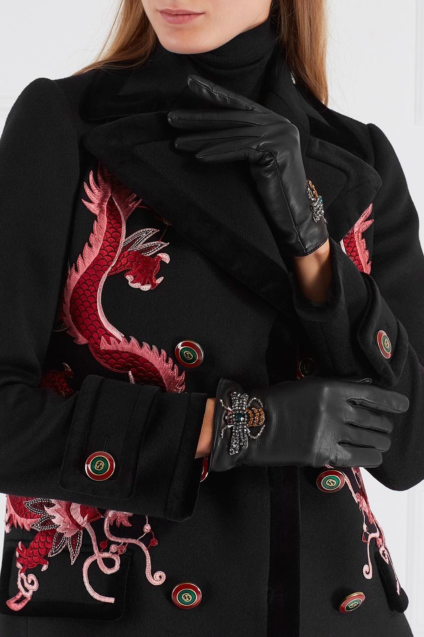 Gucci Кожаные перчатки контейнер для мда в виде пчелы