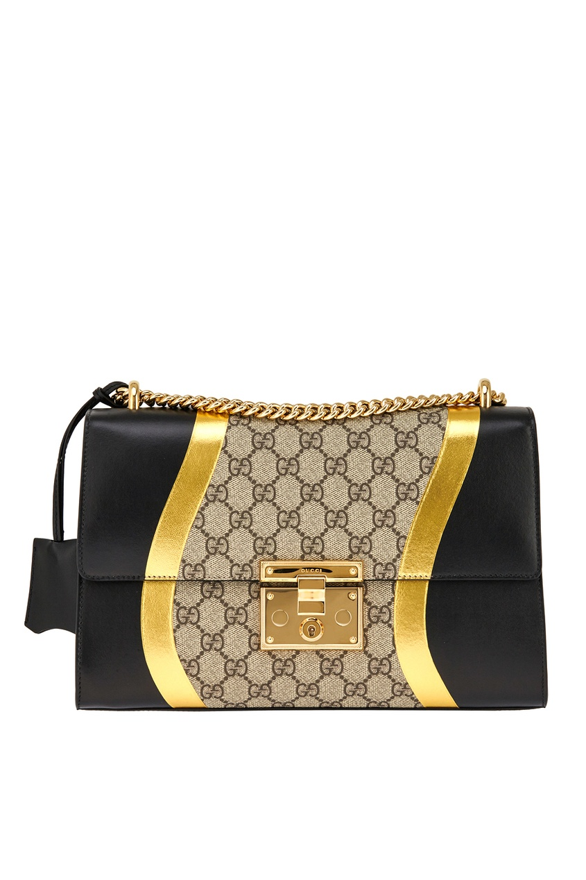 Кожаная сумка Padlock GG Supreme