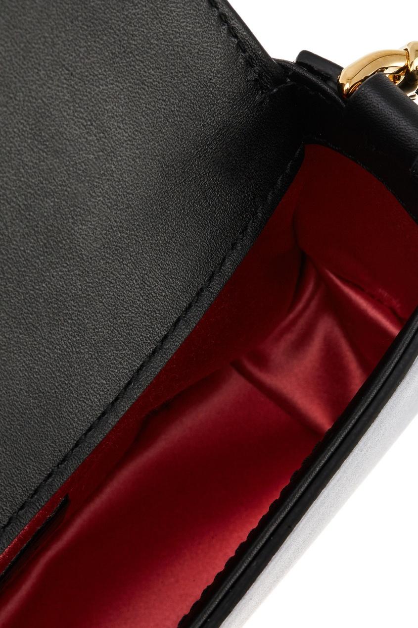Gucci Кожаная сумка с декором c n c costume national средняя кожаная сумка