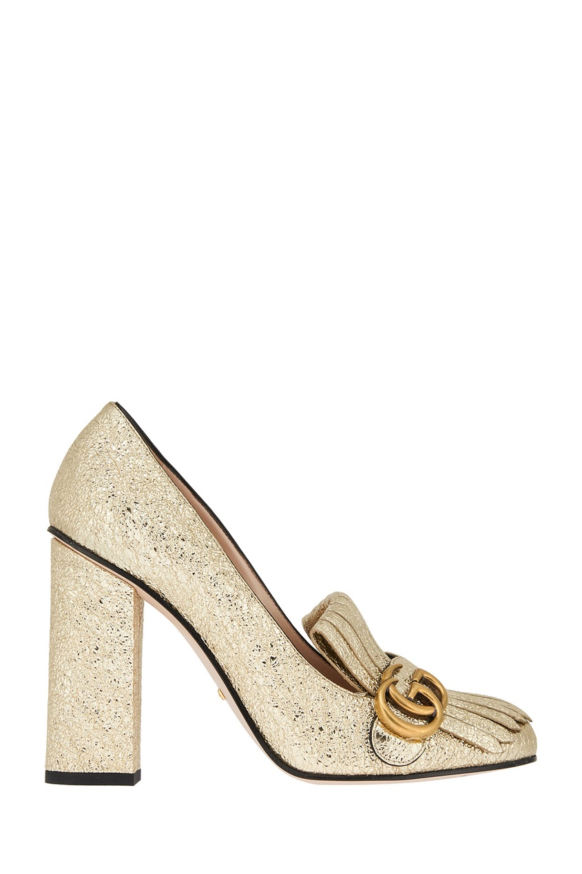 женские туфли gucci, золотые