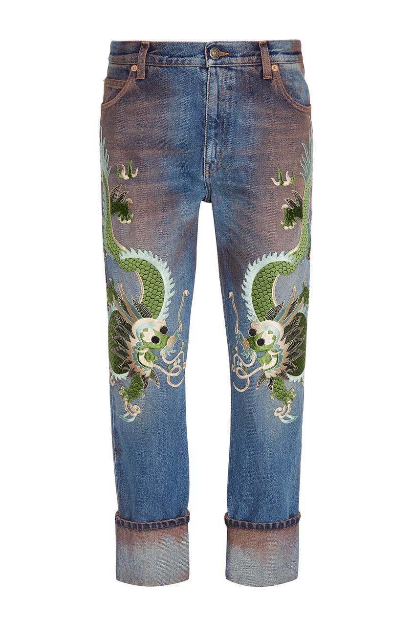 Gucci Джинсы с вышивкой