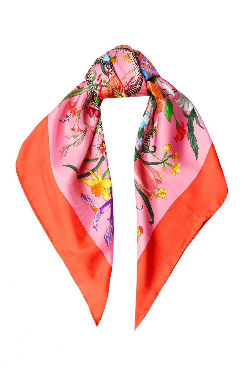 Gucci Шелковый платок платок lak miss платок