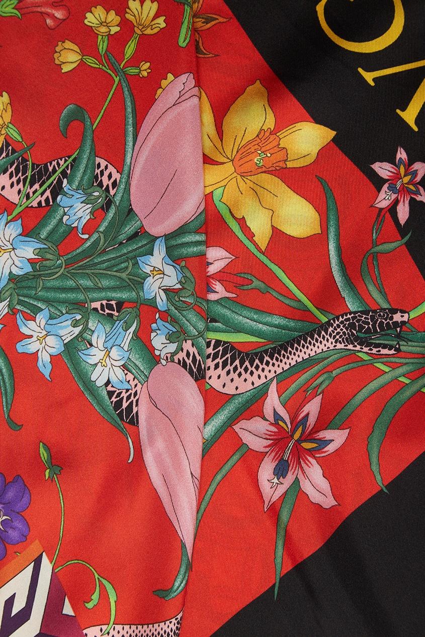 Шелковый платок с лилиями