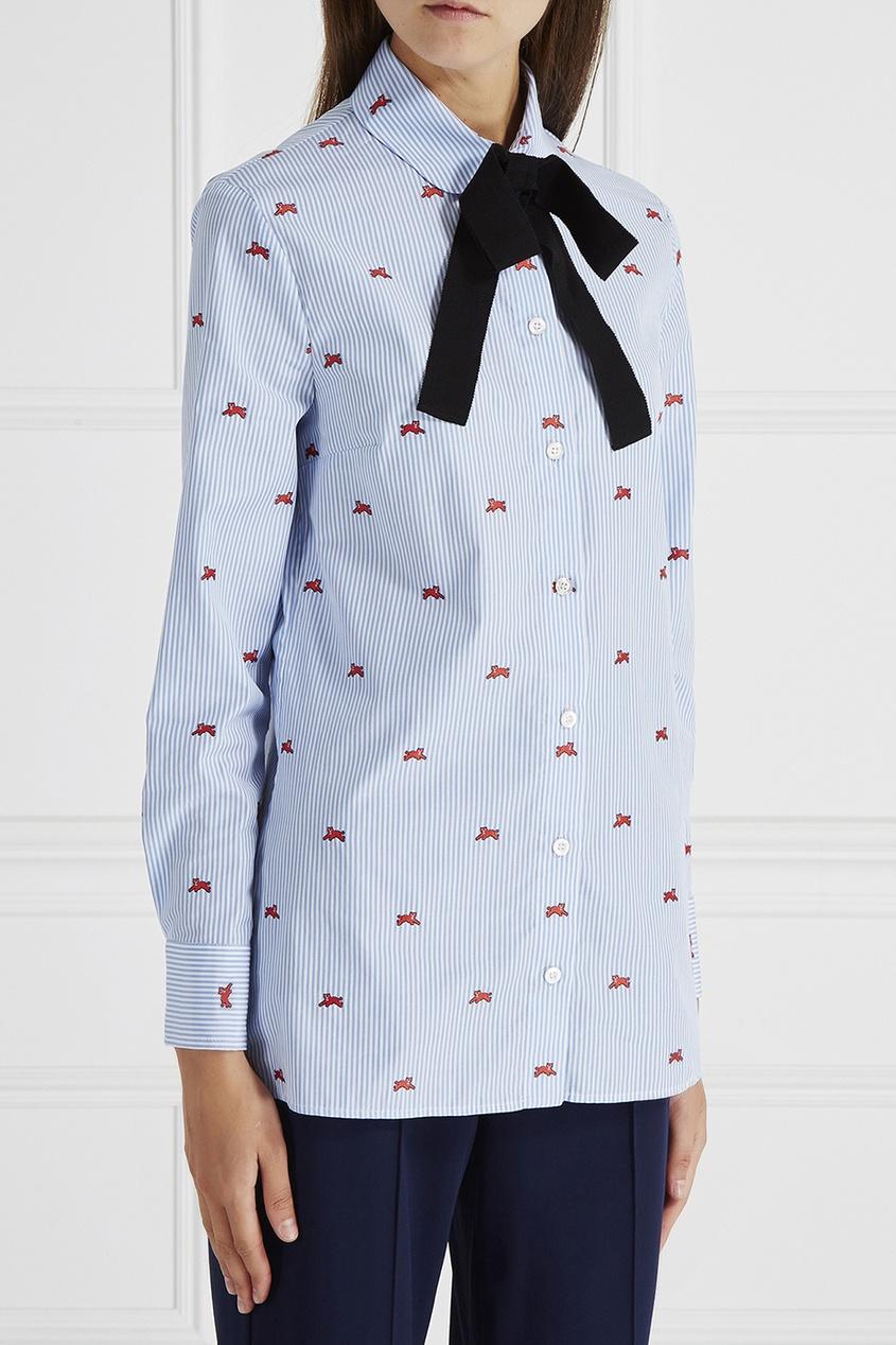 Gucci Хлопковая рубашка gucci children хлопковая рубашка