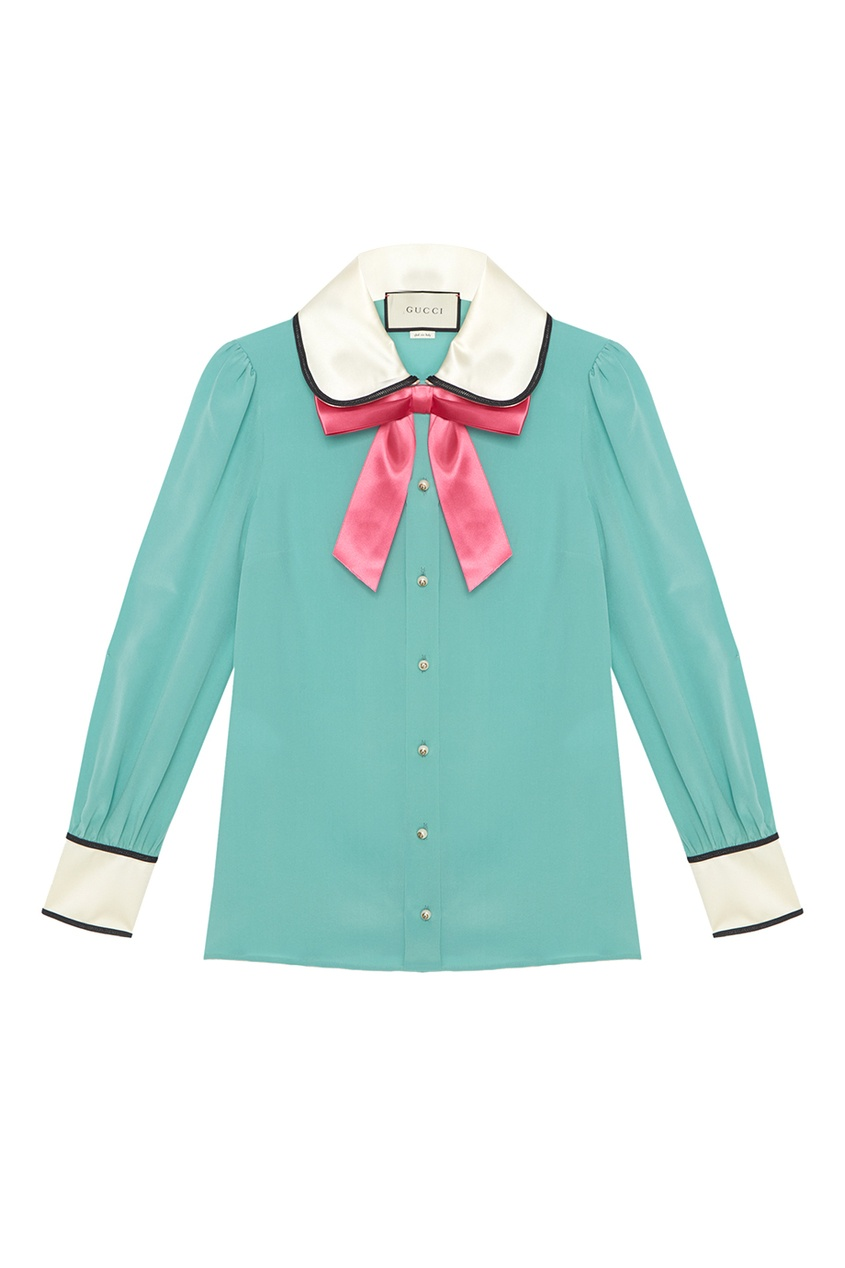 Gucci Шелковая блузка блузки анна чапман блузка