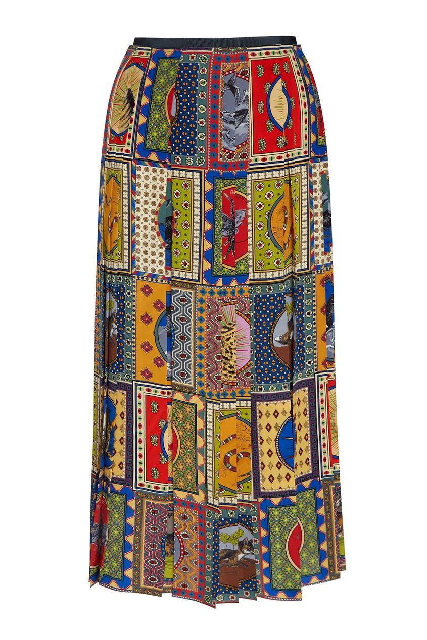 Gucci Шелковая юбка юбка brusnika brusnika br032ewwsq30