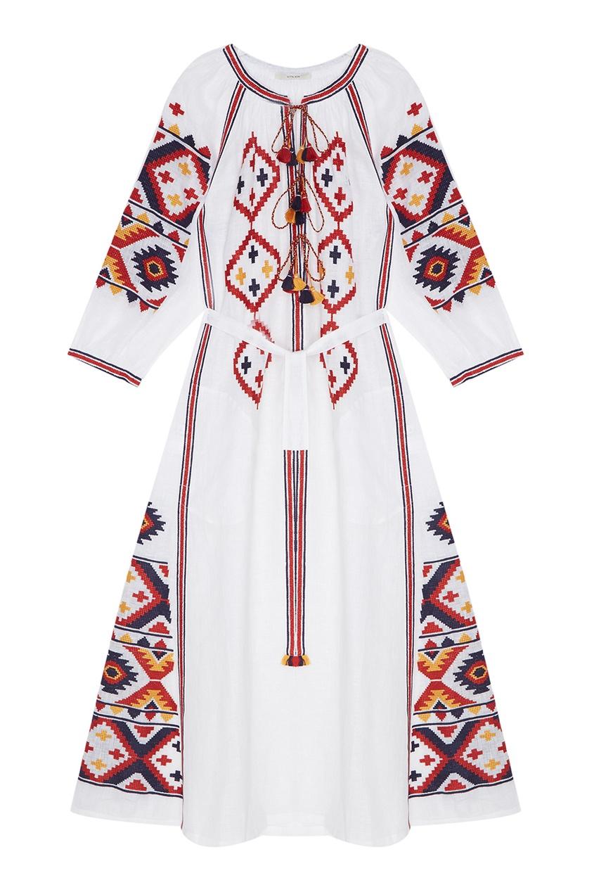 Vita Kin Льняное платье Fatima's Eye kin ping meh kin ping meh kin ping meh lp