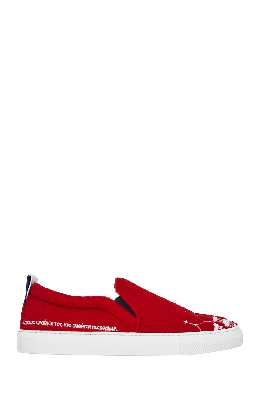 Joshua Sanders Слипоны с вышивкой Moscow joshua sanders сандалии из денима