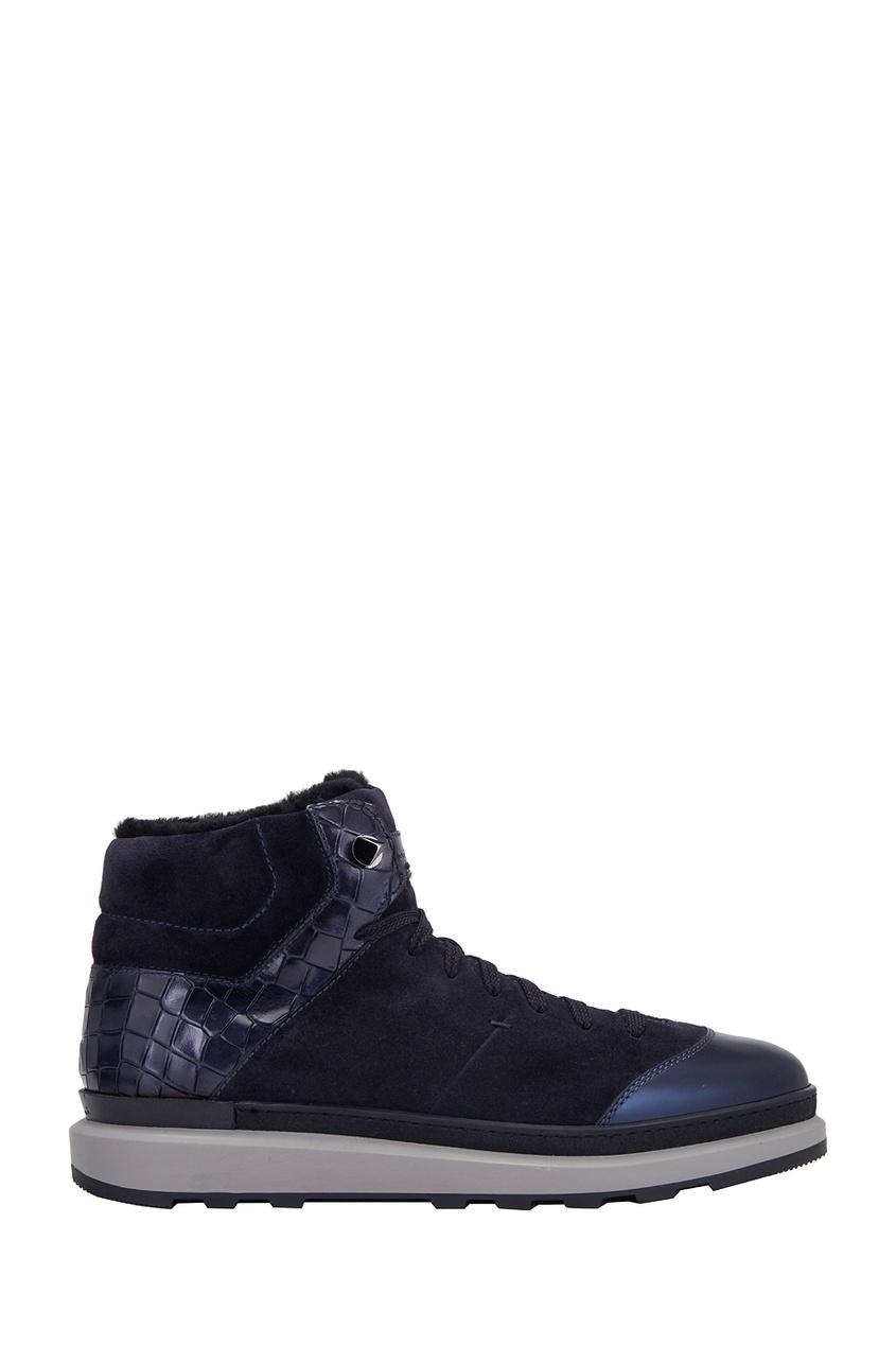 Santoni Замшевые ботинки