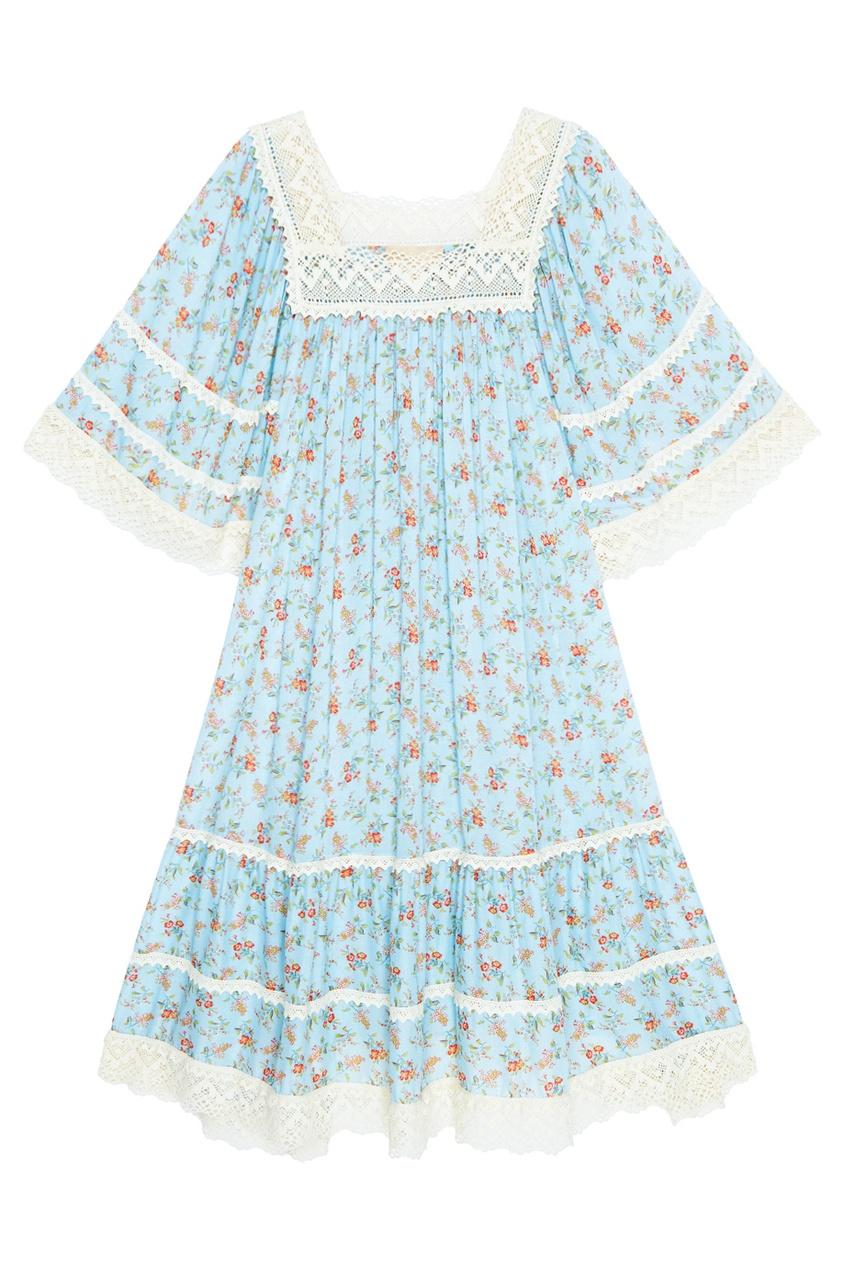 Ruban Хлопковое платье куртка голубого цвета brums ут 00008775