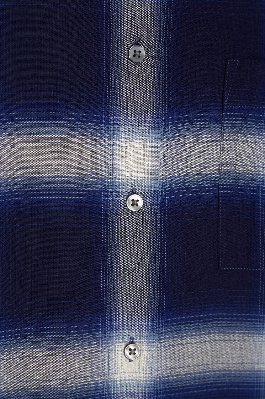 Vince Рубашка в клетку рубашка в клетку из денима gamix3